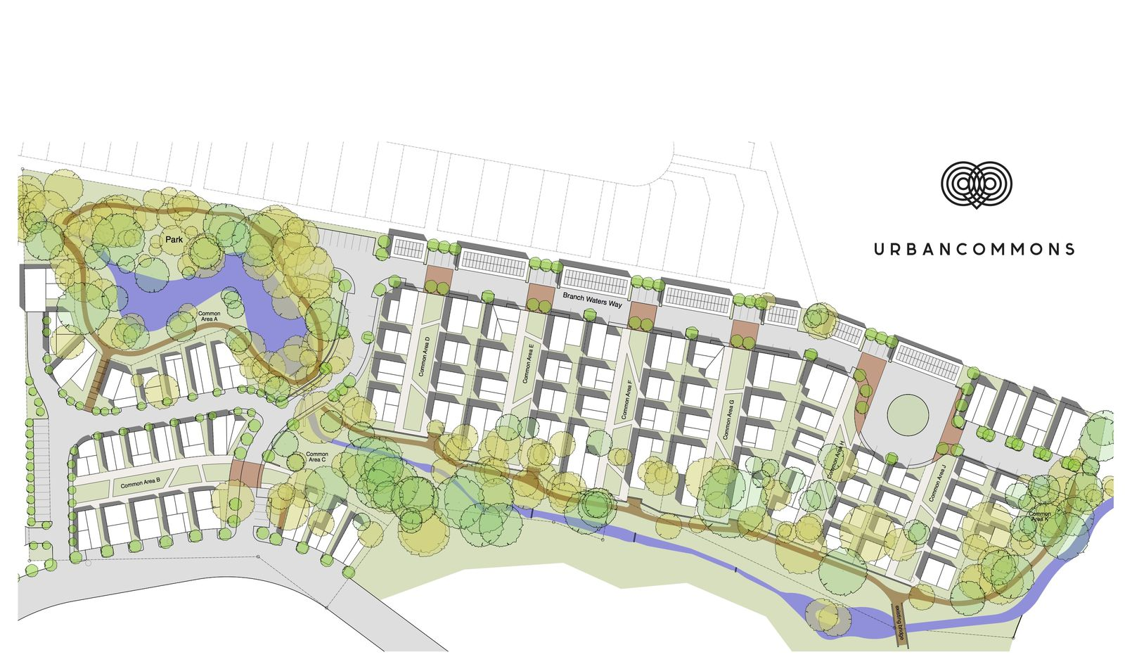 The Urban Commons neighborhood will have about 80 houses.