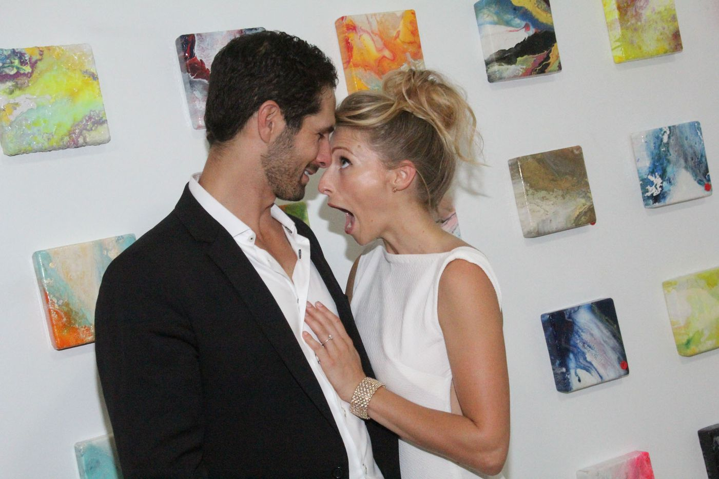 Jason Meil and artist Toni Martin enjoyed opening of her first solo-exhibition at Random Art Gallery.