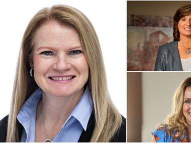 From left, clockwise: Robyn Jones, April Anthony and Suzy Batiz are among the self-made North Texans to earn spots on Forbes' list.