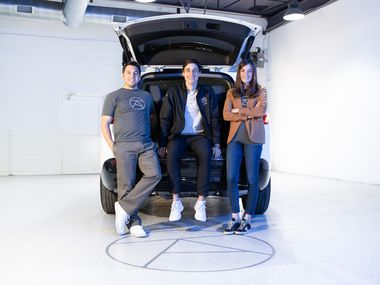 Dallas ridesharing startup Alto aims to disrupt the market with a subscription model and emphasis on rider safety. The company's staff includes chief technology officer Jonathan Campos (from left), CEO Will Coleman and chief customer officer Alexandra Halbardier.