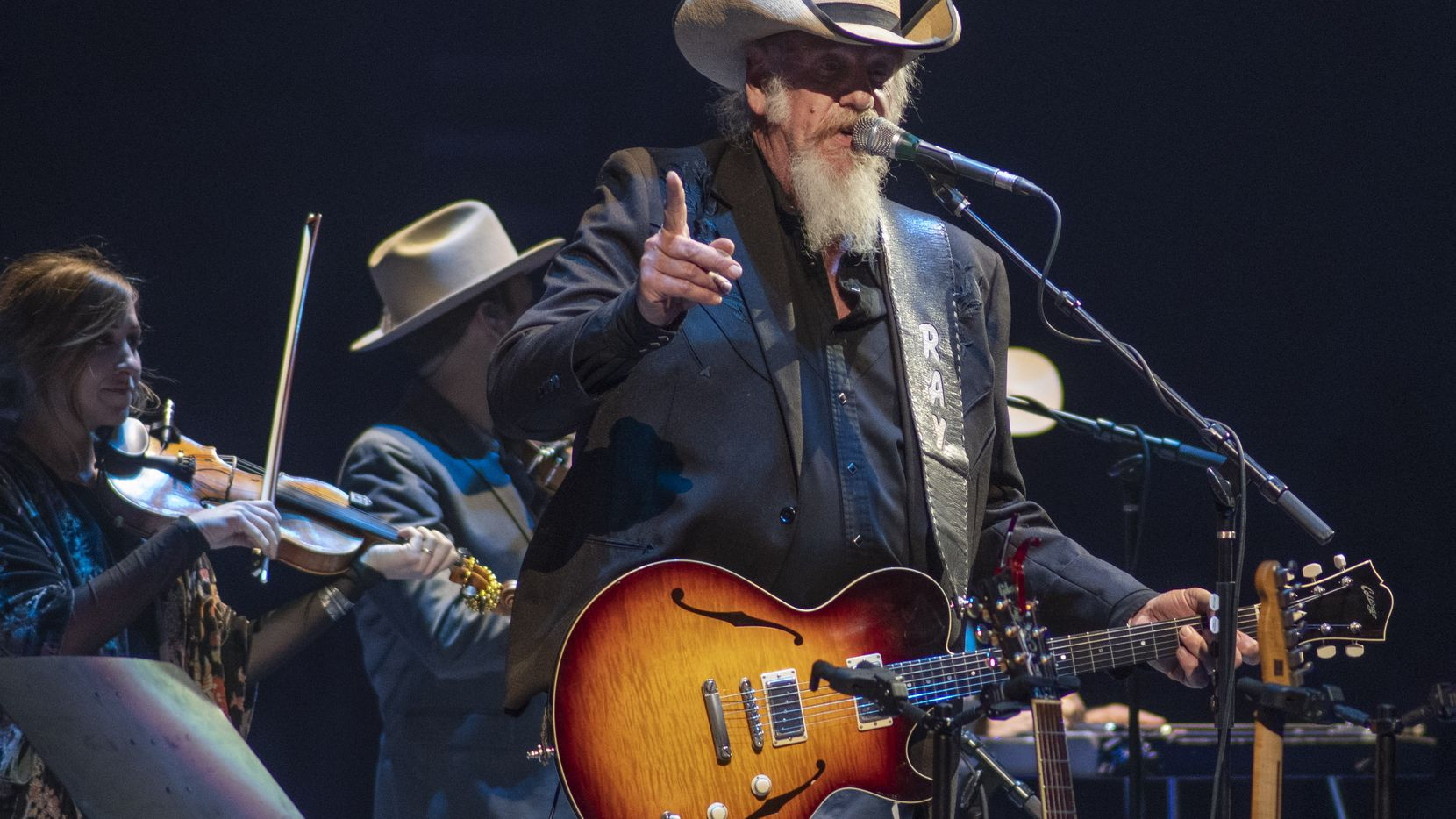 Ray Benson of Asleep at the Wheel opens for George Strait at Dickies Arena in Fort Worth, Texas on November 23, 2019.