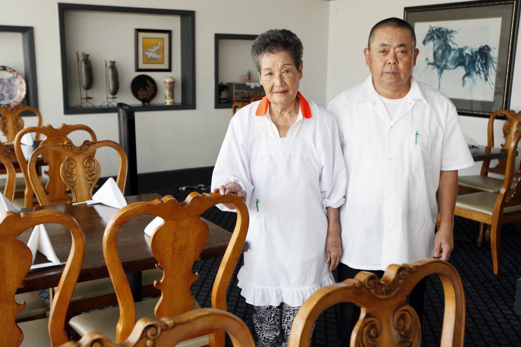 Owners Tamako Ino, 82, left, and Toyoji Ino, 62, in the main dining room at Ino Japanese Bistro. The married couple opened the restaurant in 1998. Tamako runs the dining room; Toyoji is chef.