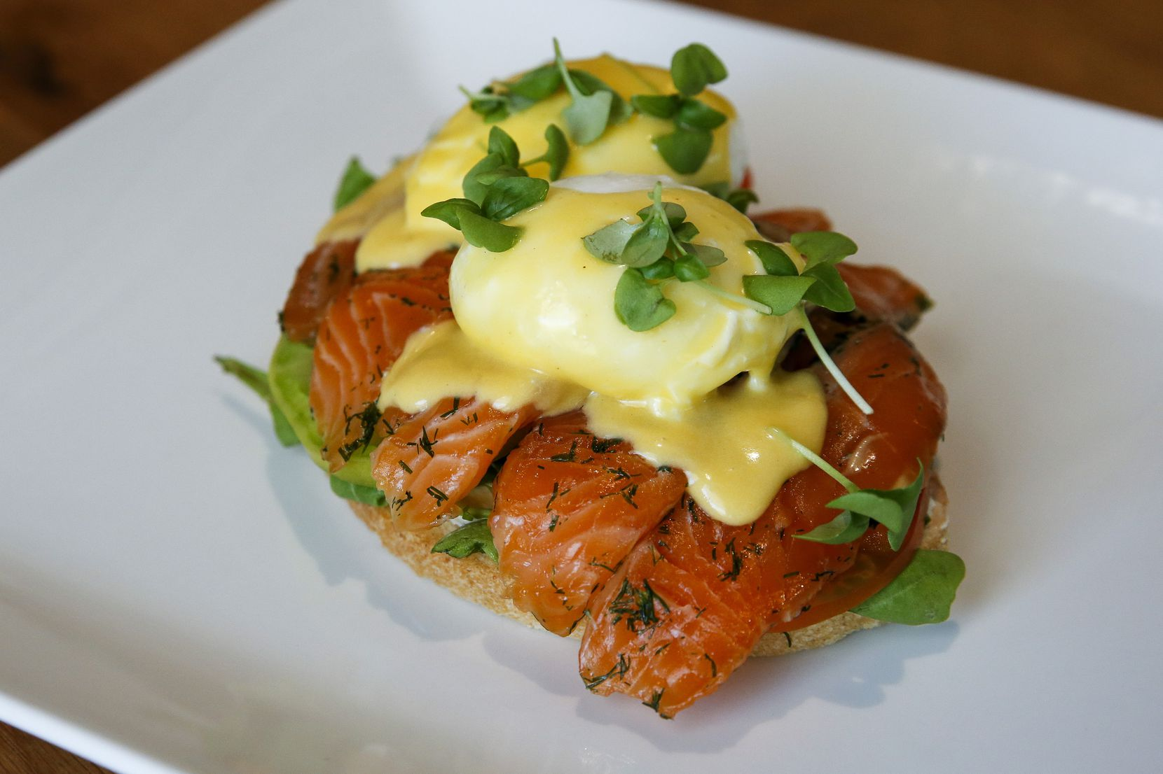 Chef Jason Connelly's brunch menu includes smoked salmon Benedict at Ascension Coffee.