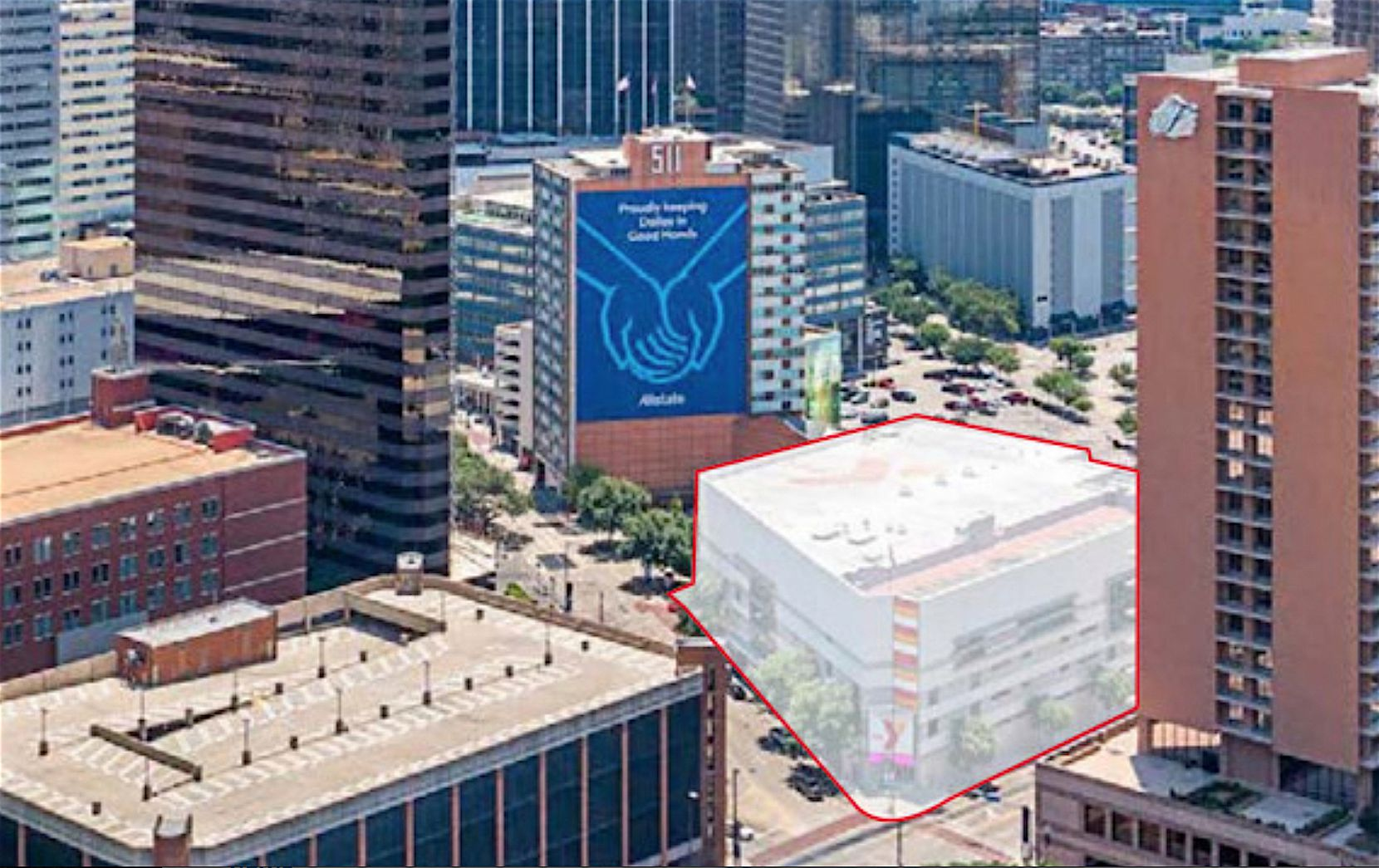 Commercial property firm JLL is hunting a buyer for the downtown Dallas YMCA which is across the street from the Fairmont Hotel.
