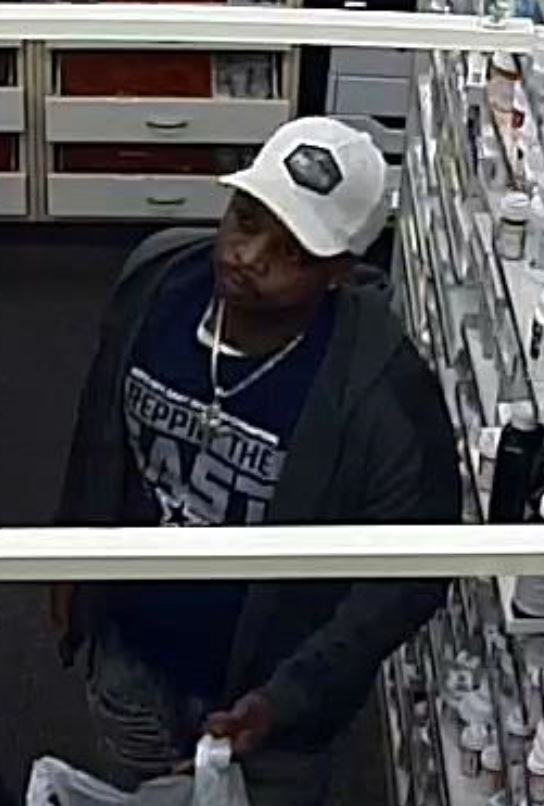 Rockwall police are searching for this man in connection with a robbery that happened Monday morning at a Walgreens pharmacy.