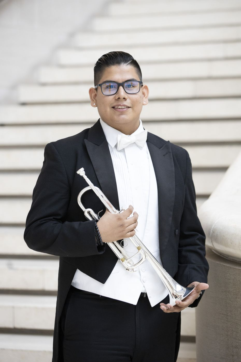 Dallas Symphony trumpeter Elmer Churampi is one of 14 musicians around the country who've recorded two pieces to honor the inauguration of Joseph Biden and Kamala Harris.