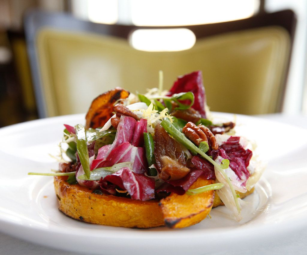 Pumpkin Salad with Medjool Dates and Pecans at LARK on the Park in Dallas.