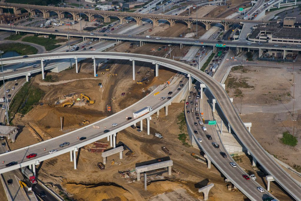 One of state and local transportation planners' underfunded ideas for easing traffic congestion in Dallas is the Canyon/Interstate 30 project, pictured.