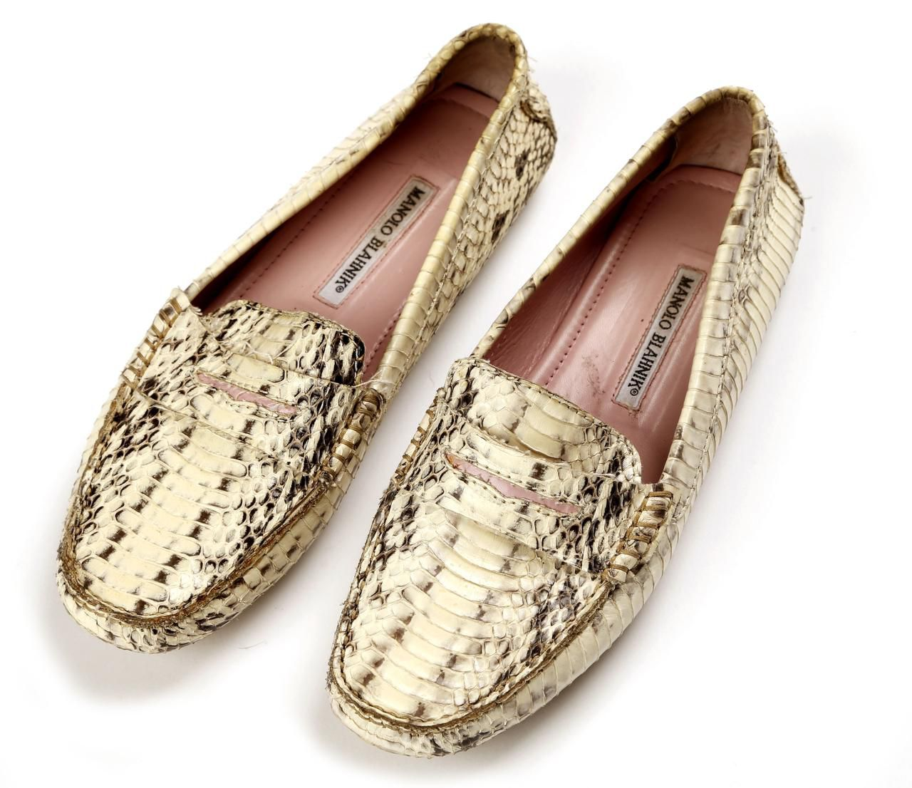 Subtle style: Joelle's Manolo Blahnik snakeskin drivers are the perfect example of how simple can be anything but boring. Make a style statement with subtlety.