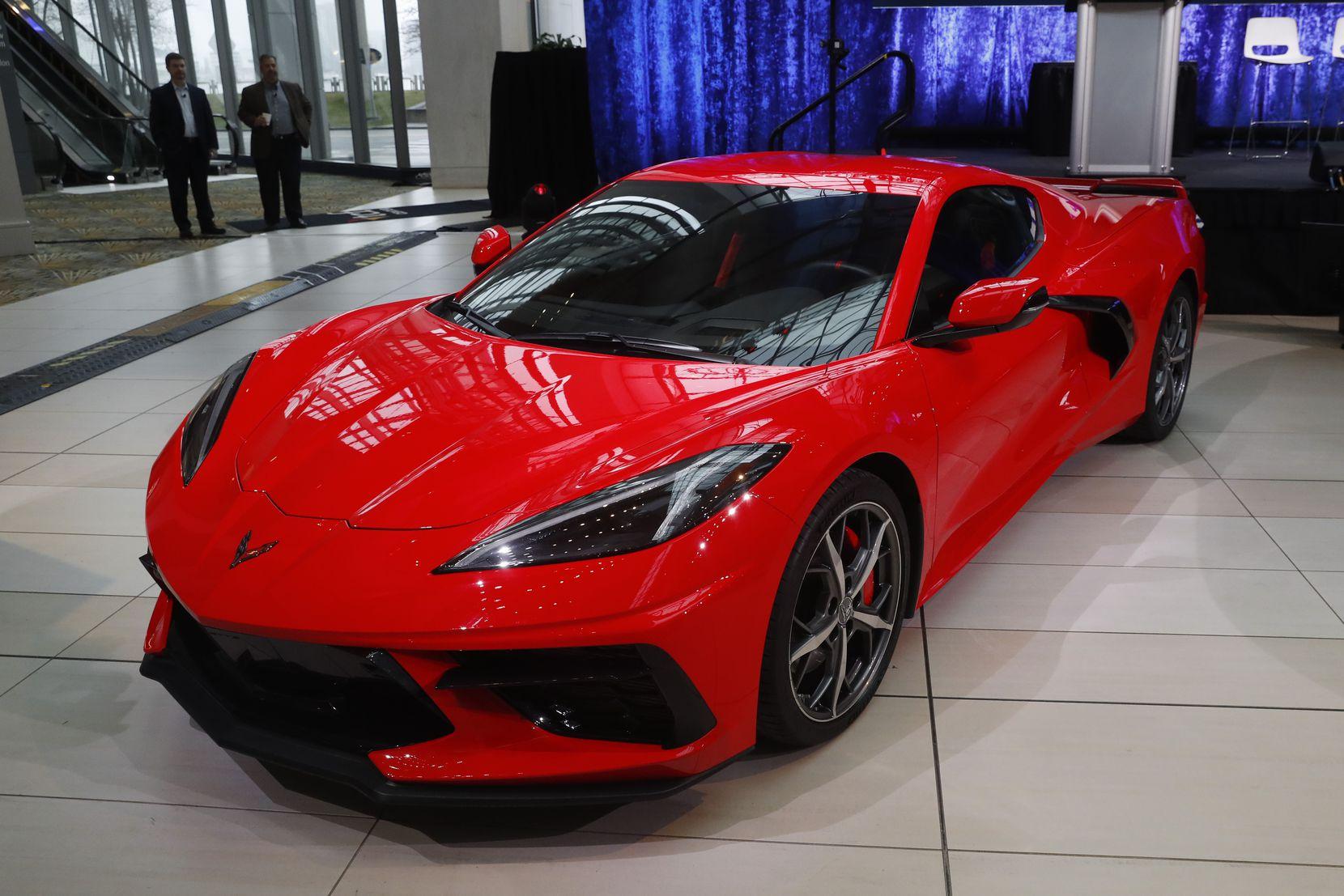 The Corvette starts at $58,900. (AP Photo/Paul Sancya)