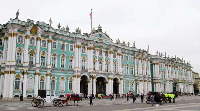 The Winter Palace in St. Petersburg is now part of the renowned State Hermitage museum.