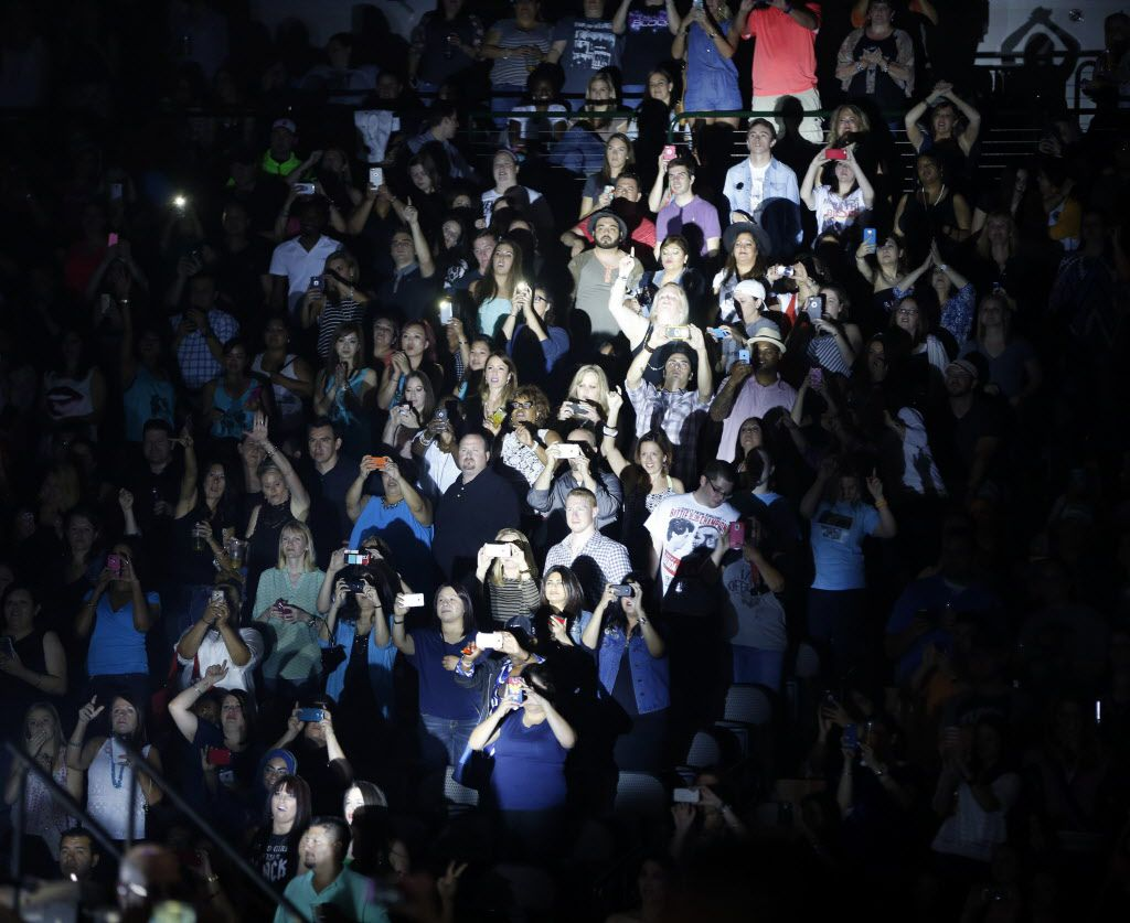 Fans at a New Kids on the Block performance at American Airlines Center in Dallas, on Thursday, May 14, 2015.