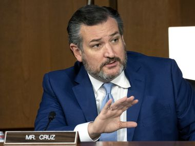 Sen. Ted Cruz speaks during Justice Amy Coney Barrett's confirmation hearing on October 13, 2020.