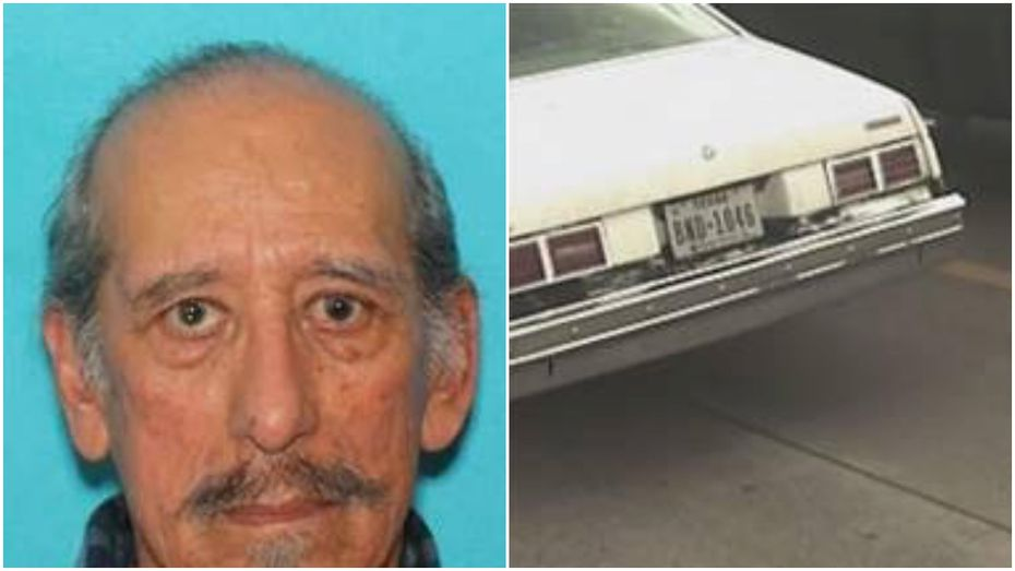 Manuel Contreras, 86, of Richardson, reported missing in Mesquite, is believed to be driving the white Chevy Nova in the photo.