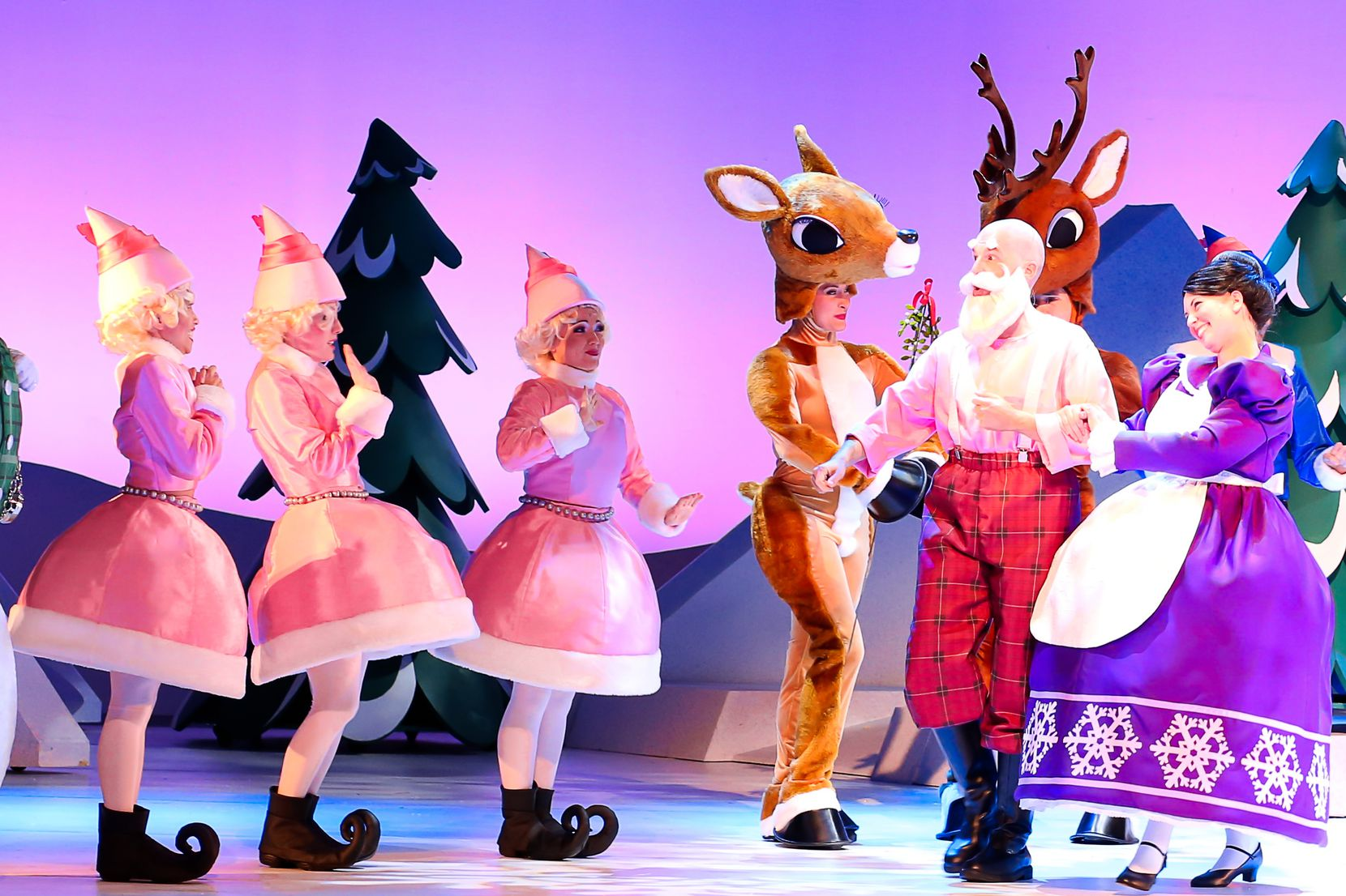 """""""Rudolph the Red‐Nosed Reindeer,"""" a stage musical based on the TV classic, will be at Winspear Opera House on Dec. 15."""