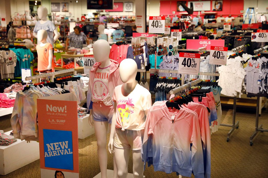 The J.C. Penney children's clothing department at Collin Creek Mall store in Plano, Texas, Thursday, March 1, 2018. (Tom Fox/The Dallas Morning News)