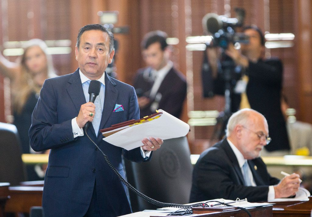 Democratic Sen. Carlos Uresti spoke on the floor during last year's special session.