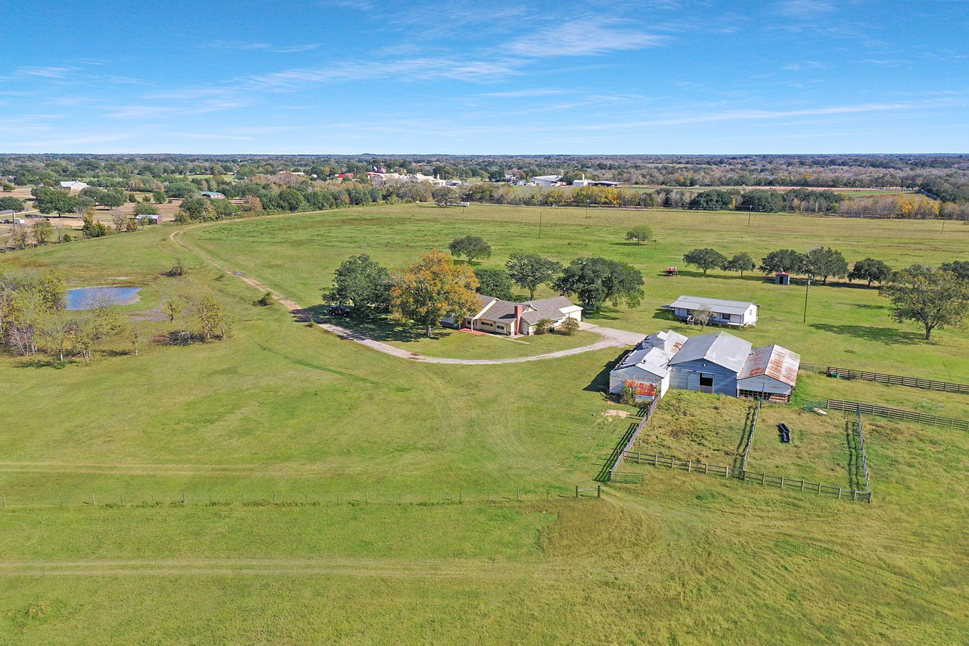Take a look at this 44,602-square-foot home at 9950 Palestine Road in Brenham. The home sits on more than 230 acres.