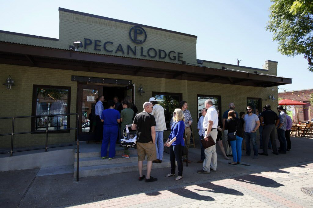 Diners wait in line to place an order inside the Pecan Lodge restaurant in Deep Ellum, on Wednesday, Sept. 24, 2014 in Dallas. Ben Torres/Special Contributor