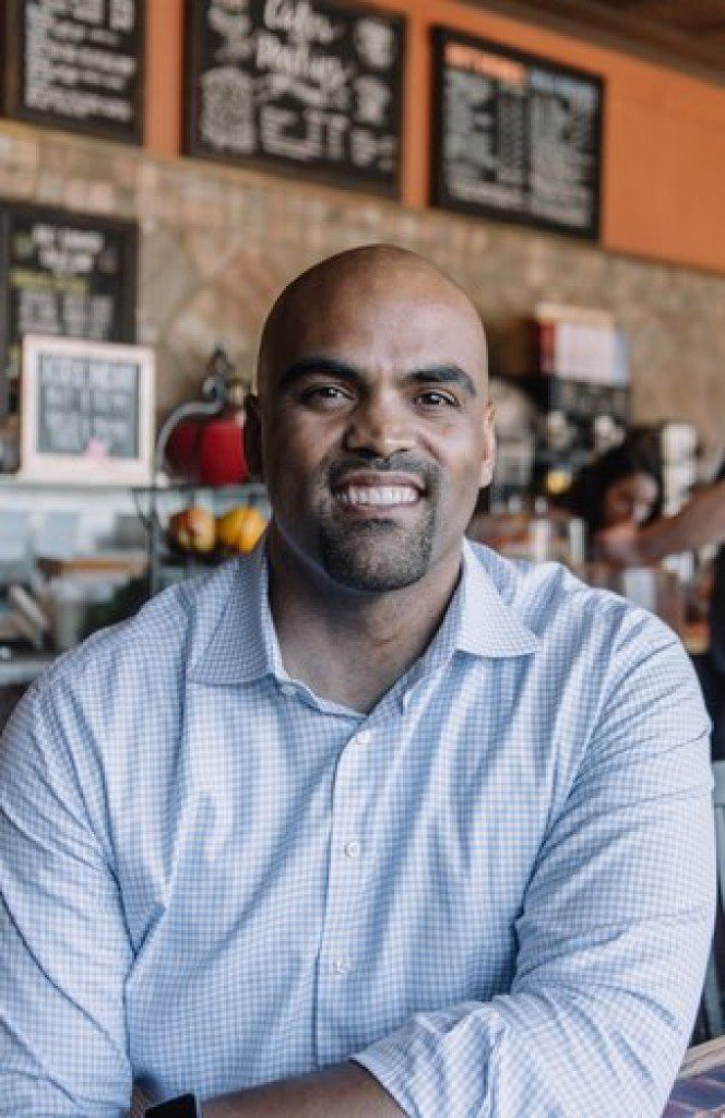 Colin Allred, who starred at Hillcrest High School before going on to play at Baylor and in the NFL, is running to unseat Rep. Pete Sessions to represent the Dallas congressional district where he grew up. Allred is now a civil rights attorney who previously served in President Barack Obama's administration.