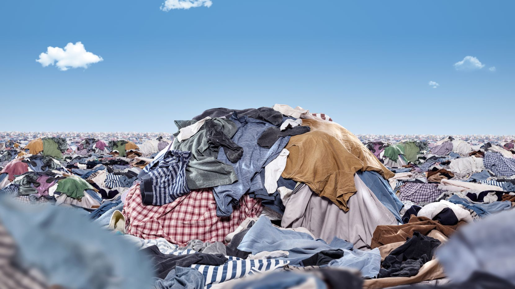 Every two days, the world discards or burns enough clothing to fill AT&T Stadium.