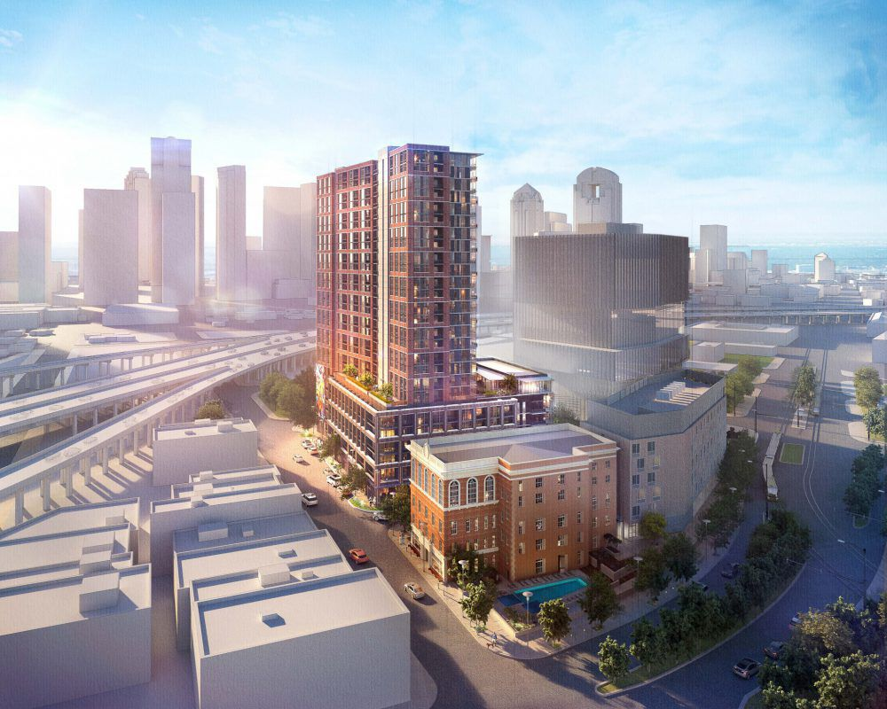 StreetLights Residential's 26-story Hamilton tower is part of the 8-acre Epic development on Elm Street.