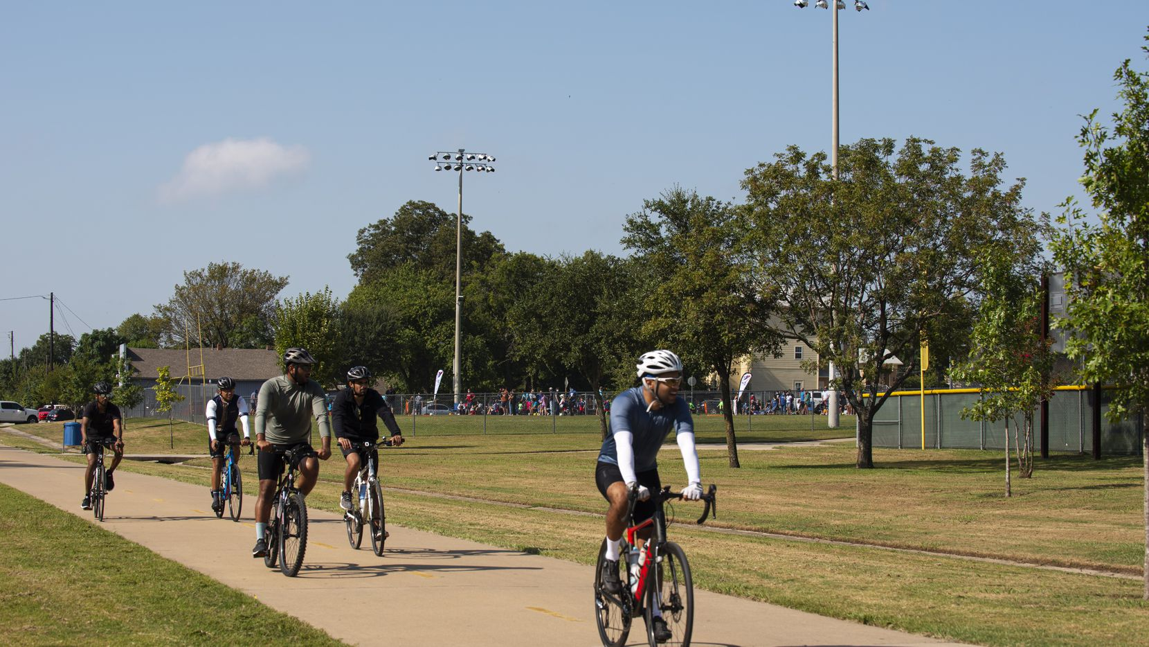 Bikers are pictured on the popular Santa Fe Trail in this file photo.