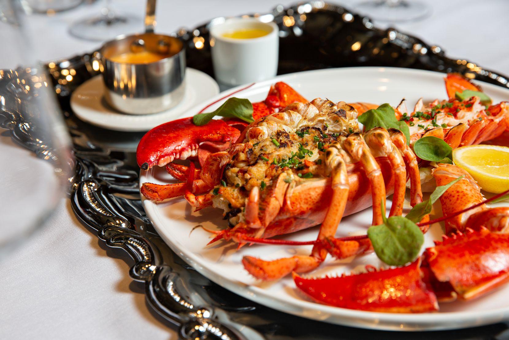 Beyond steaks, Dakota's serves seafood entrees like Maine lobster.