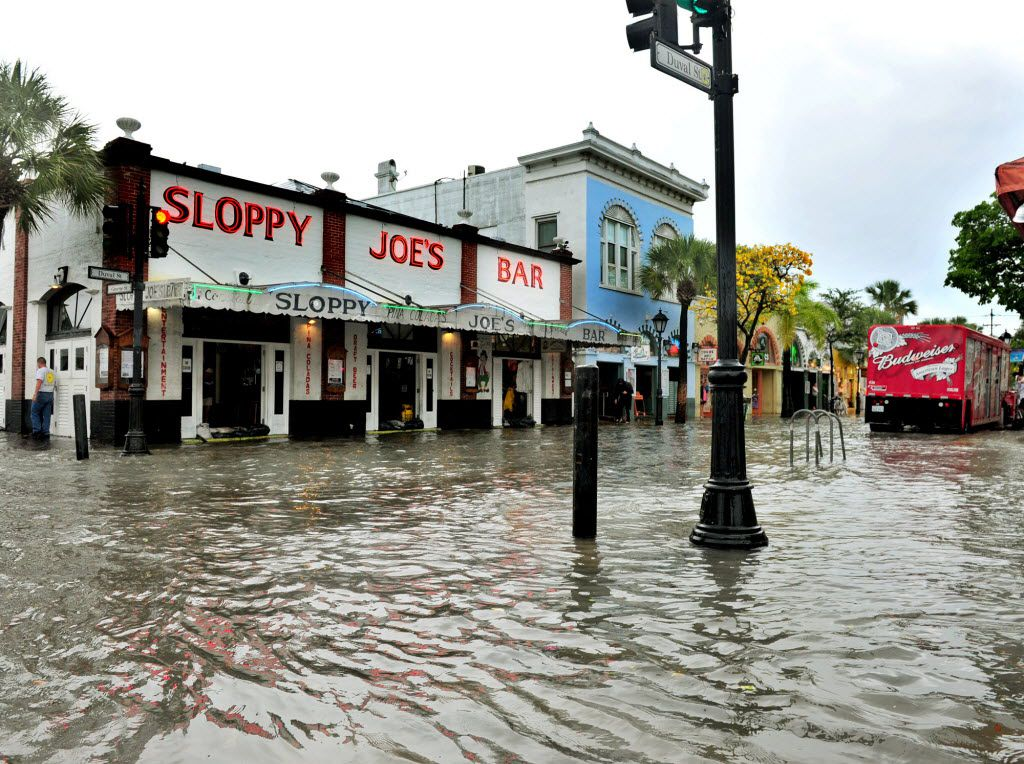 Areas like Florida's Key West are in more danger from both rising sea levels and major storms, as the gradually rising coastlines create quicker and more devastating floods.