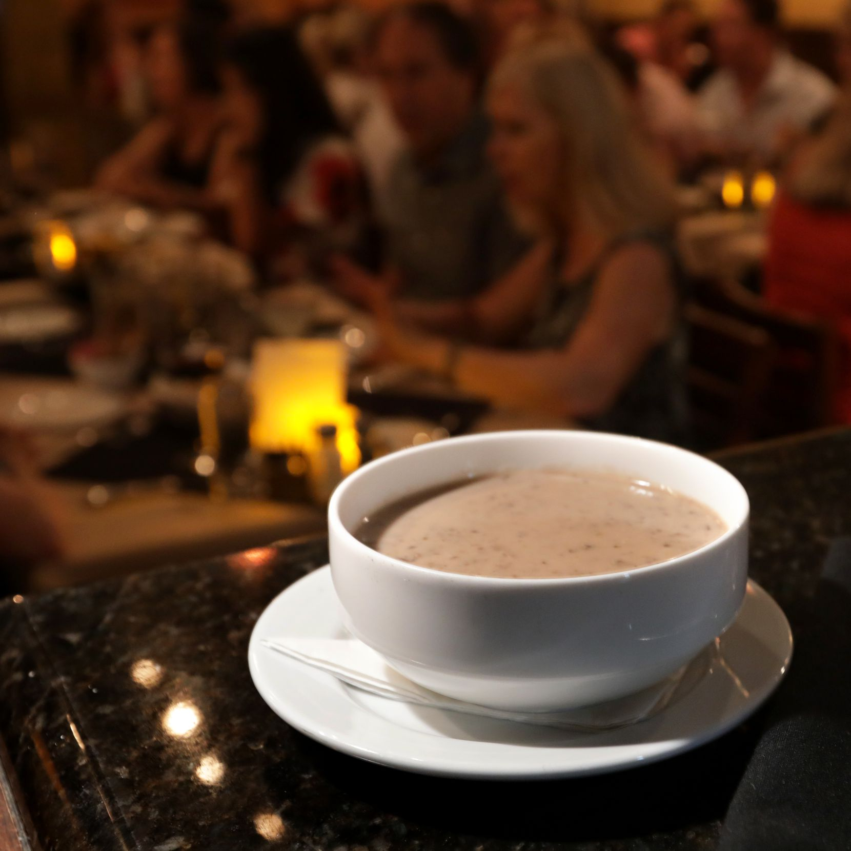 The mushroom soup has been on the menu since the Grape opened in 1972.