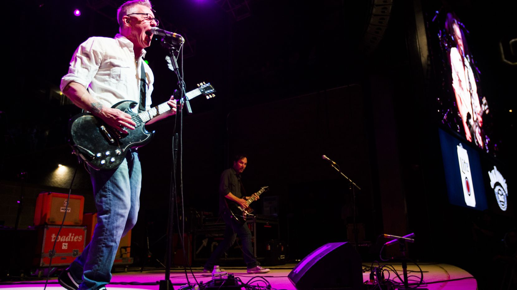 Vaden Todd Lewis (left) and the Toadies performed during the grand opening celebration for Texas Live! on Aug. 9, 2018, in Arlington. Lewis has written a new comic book, and the band has lent its name to a new coffee.