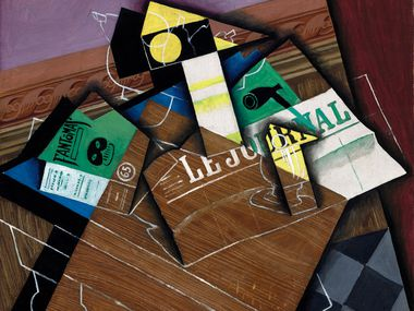 """Juan Gris' 1915 painting """"Fantomas"""" is among the works on display in """"Cubism in Color: The Still Lifes of Juan Gris,"""" on view through July 25 at the Dallas Museum of Art."""