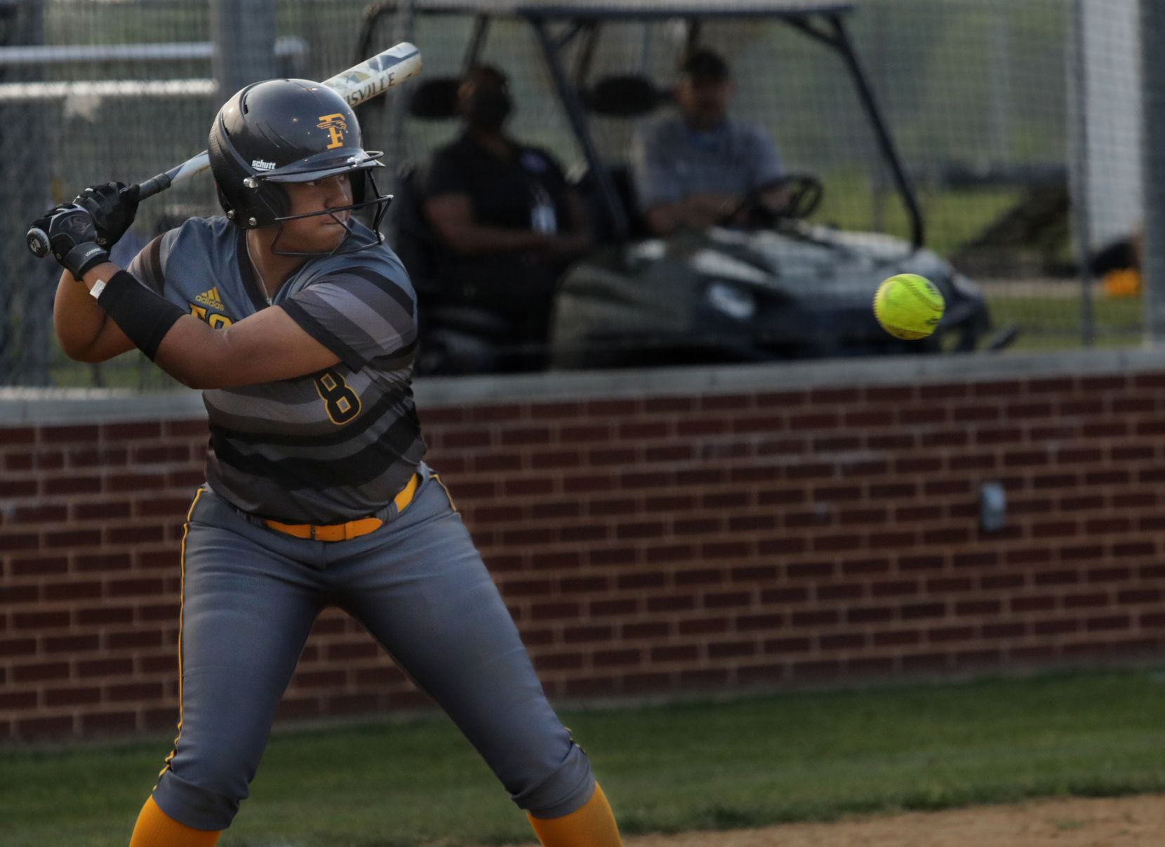 Vanessa Hollingsworth prepares to swing for the ball during a softball game between Forney at North Forney at North Forney High School in Forney, TX, on Apr. 9, 2021. (Jason Janik/Special Contributor)