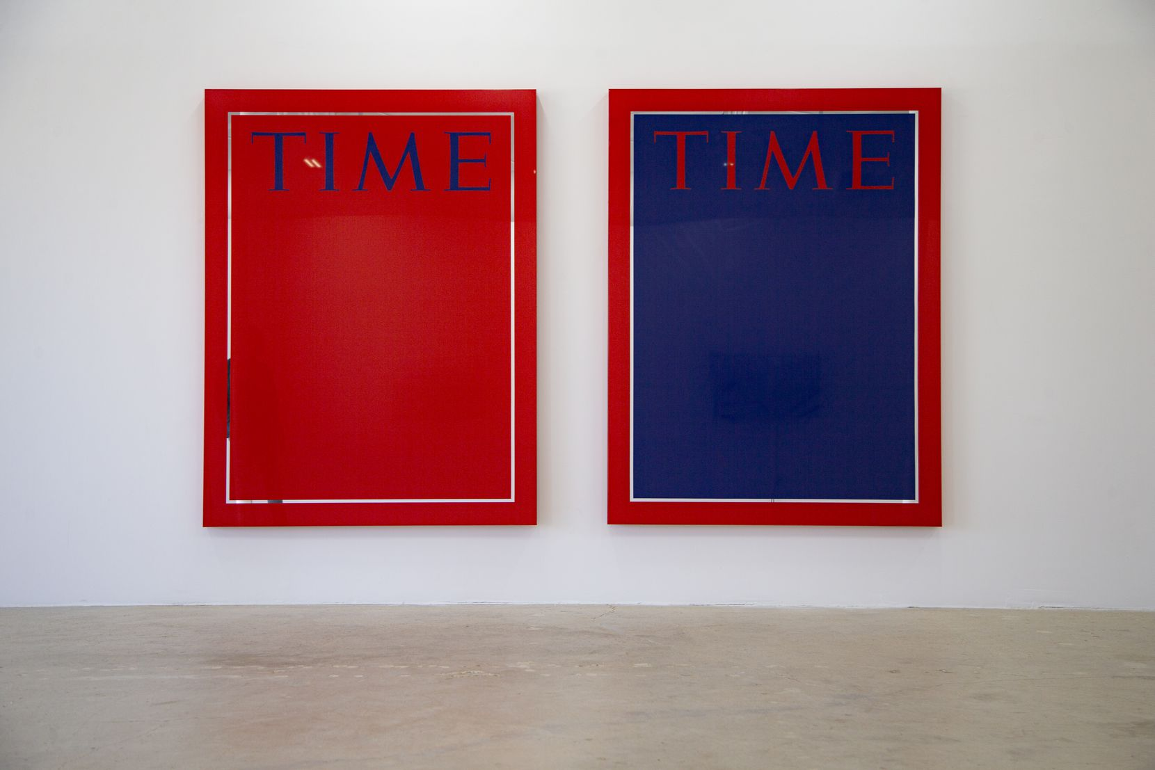 "Artist Mungo Thomson's ""Time"" magazine covers are among the works on display at Galerie Frank Elbaz's latest exhibition."