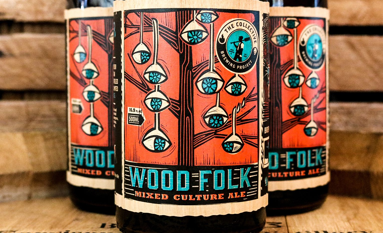 Wood Folk (pictured) is a golden sour ale produced by Collective Brewing Project. It's the first in the brewery's Foeder Fantasies Series.