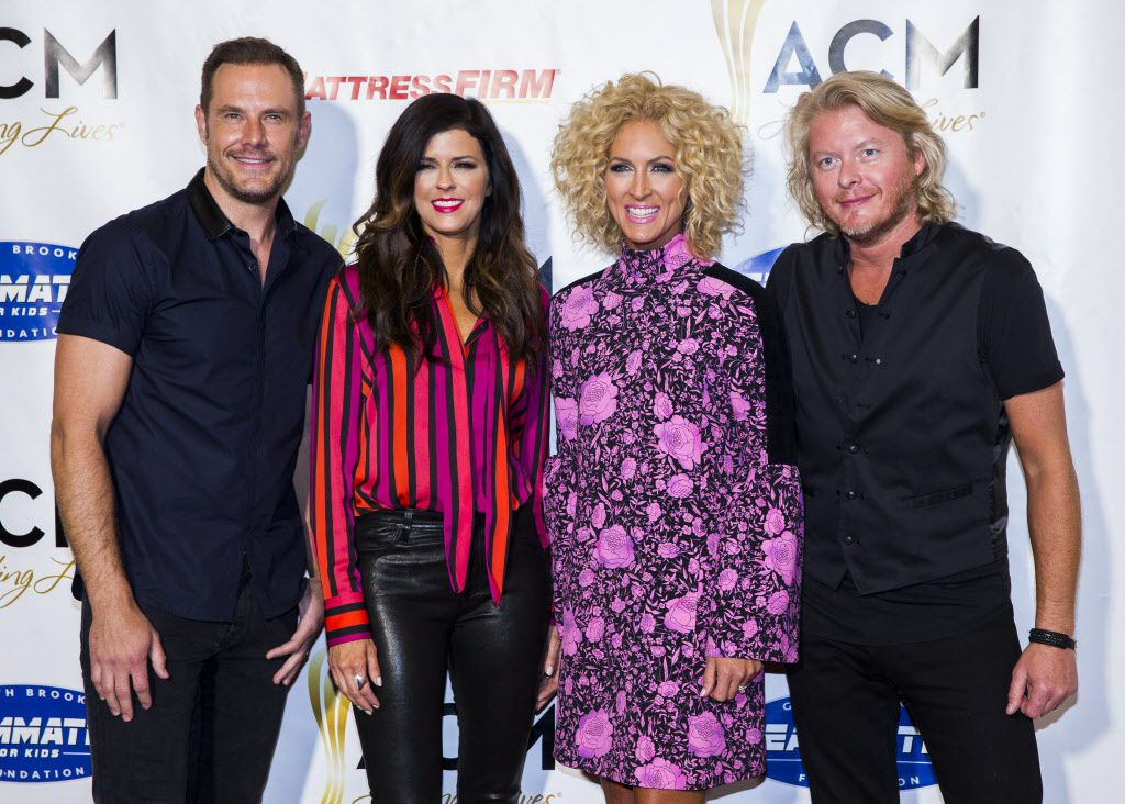 Little Big Town on the red carpet, from left: Jimi Westbrook, Karen Fairchild, Kimberly Schlapman and Philip Sweet