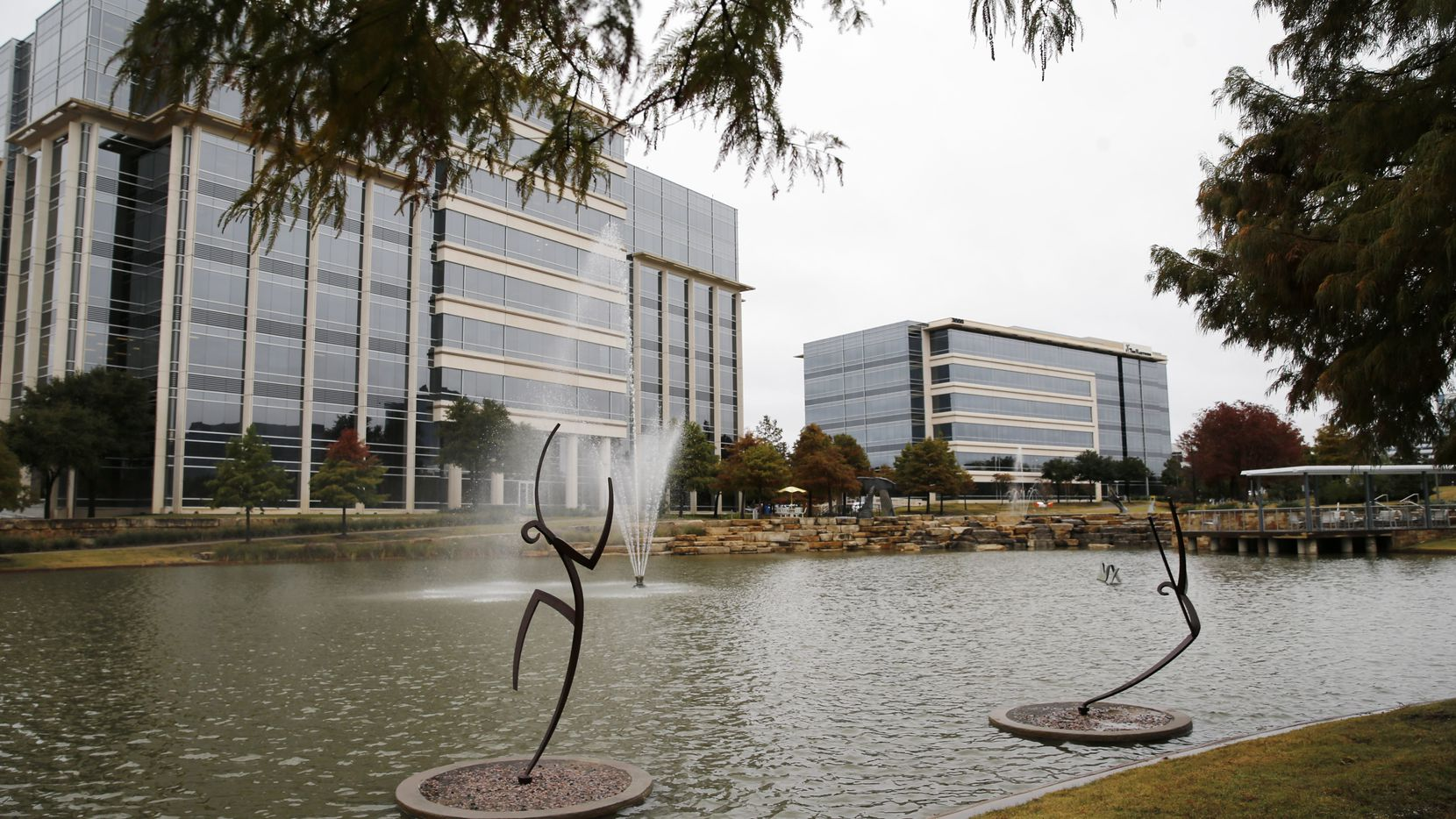 Sculptures off of Network Blvd at Hall Office Park in Frisco, on Thursday, November 7, 2019. (Vernon Bryant/The Dallas Morning News)