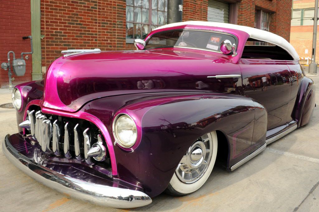 This 1948 Chevy Coupe featuring custom paint was part of the Invasion Car Show in Deep Ellum in 2015.