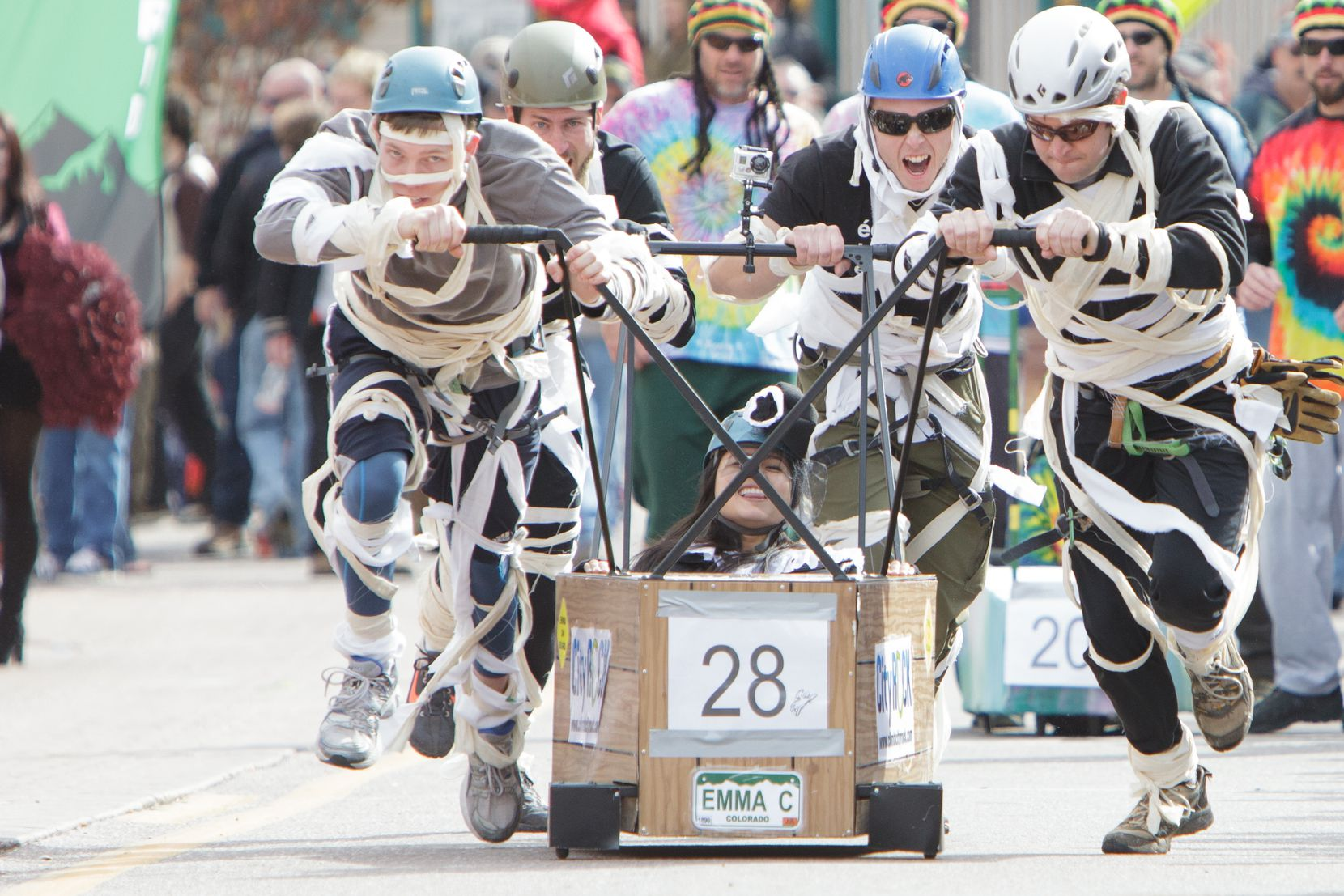 The coffin races marked their 25th anniversary in Manitou Springs, Colo., this fall.