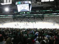 Fans fill the stadium during the third period of a Dallas Stars home opener against the Los Angeles Kings on Thursday, Oct. 21, 2021, at American Airlines Center in Dallas. This game is the first time the Stars have played in front of a full home crowd since March of 2020.