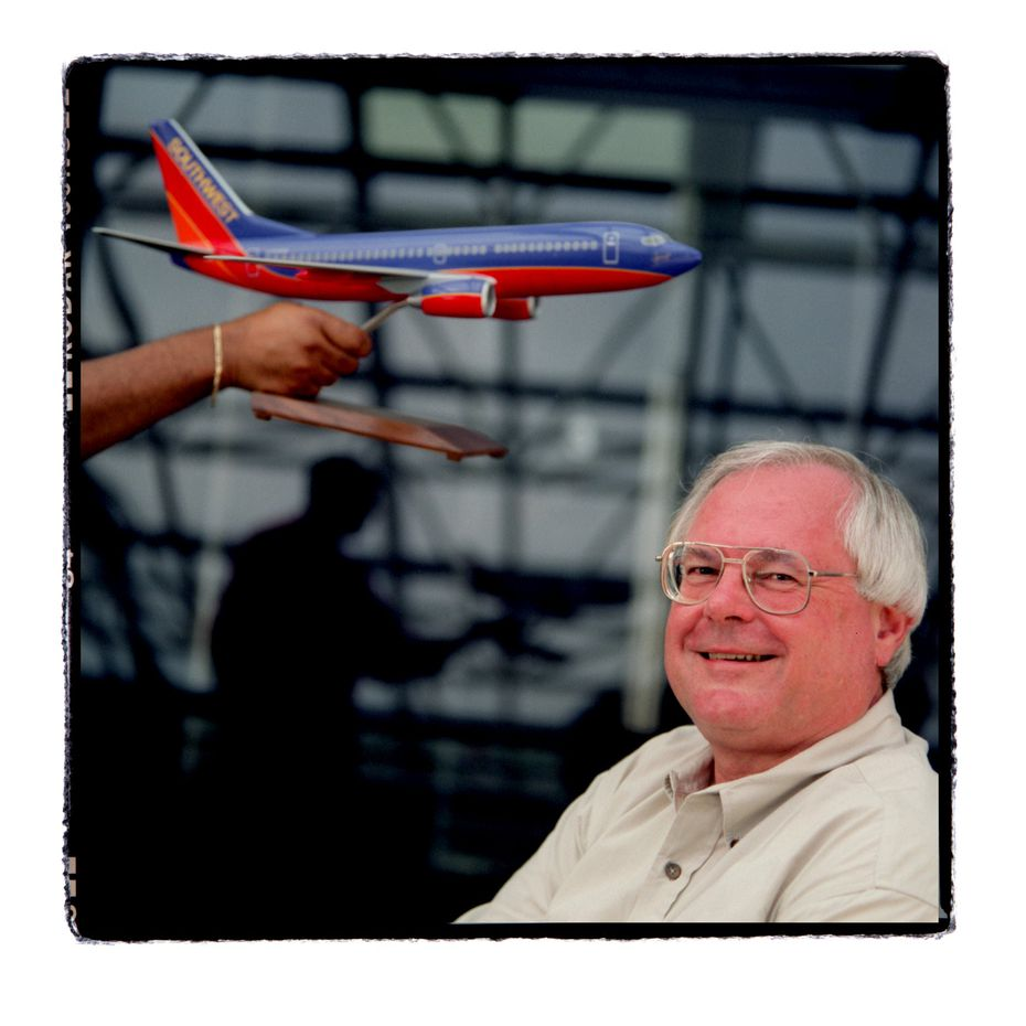 James Parker, former CEO of Southwest Airlines, photographed in his Dallas office in 2004.