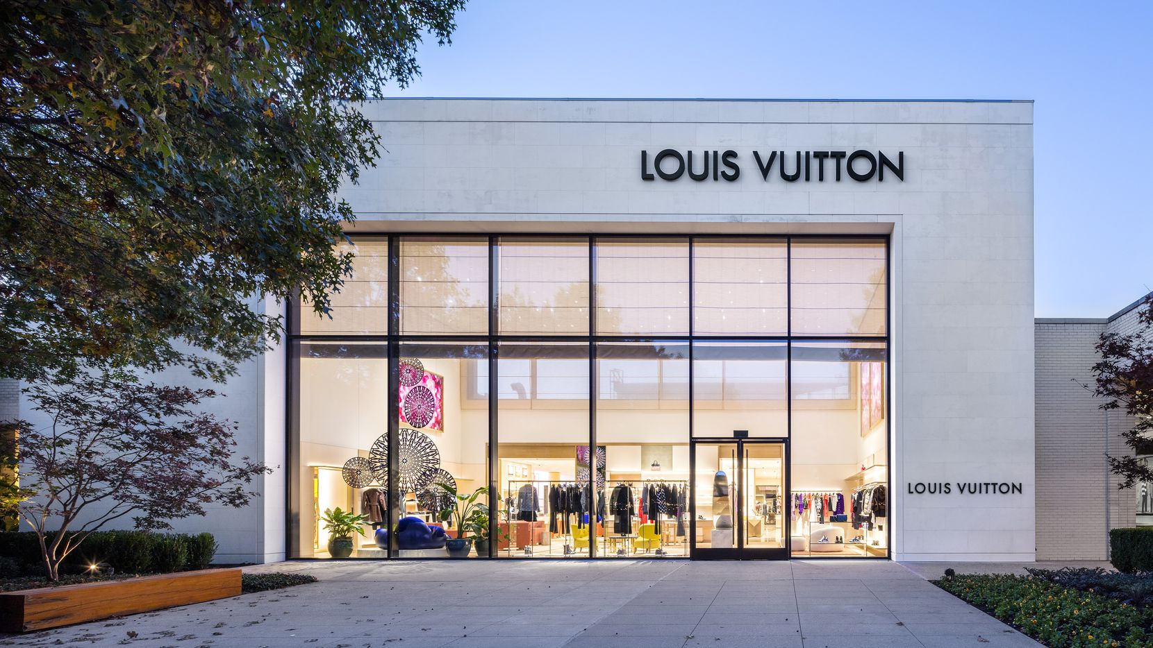 The interior park view of the new, larger Louis Vuitton store that opened in NorthPark Center on Saturday, Nov. 14, 2020.