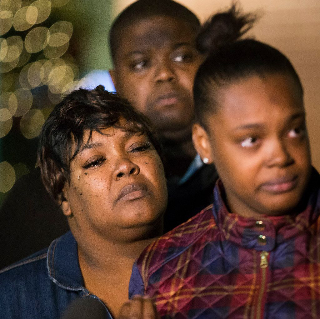 Jacqueline Craig (left) listened as her 19-year-old daughter Brea Hymond addressed the media during a December news conference about the incident.