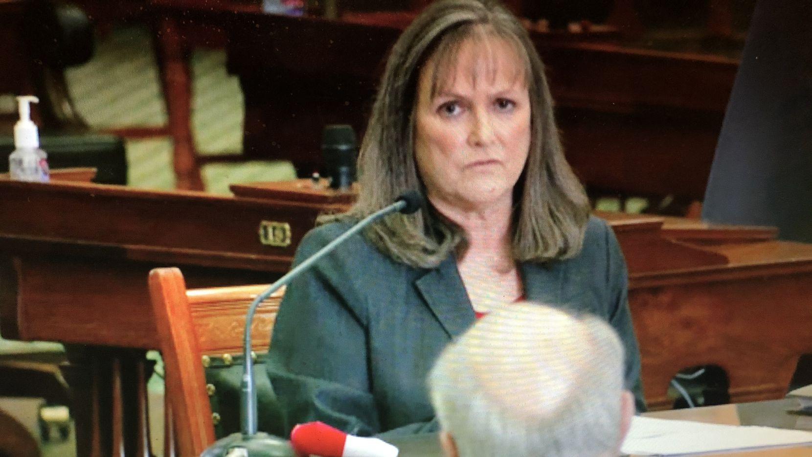 DeAnn Walker, chairman of the Public Utility Commission, testified in Austin on Feb. 25, 2021