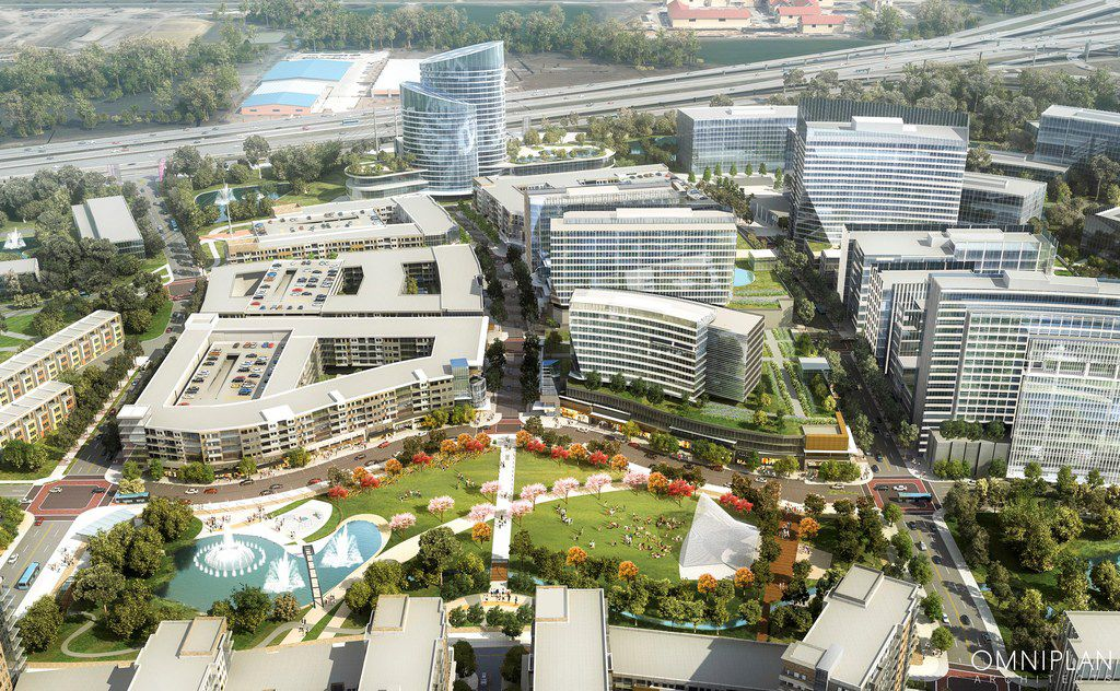 The 240-acre Monarch City development in Allen is planned as a major mixed-use development.