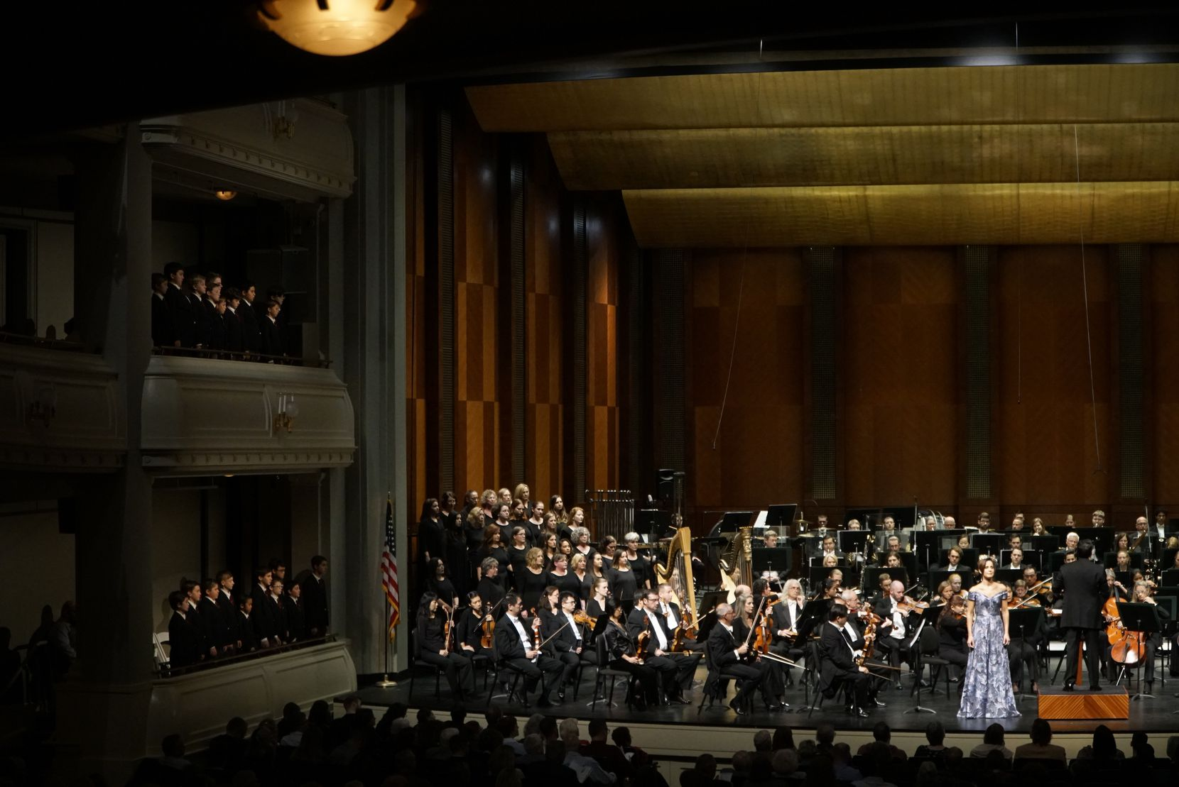 The Fort Worth Symphony Orchestra performs Mahler's Third Symphony with Soloist Kelley O'Connor and The Texas Boys Choir at Bass Performance Hall in Fort Worth, Texas on Friday October 11, 2019.