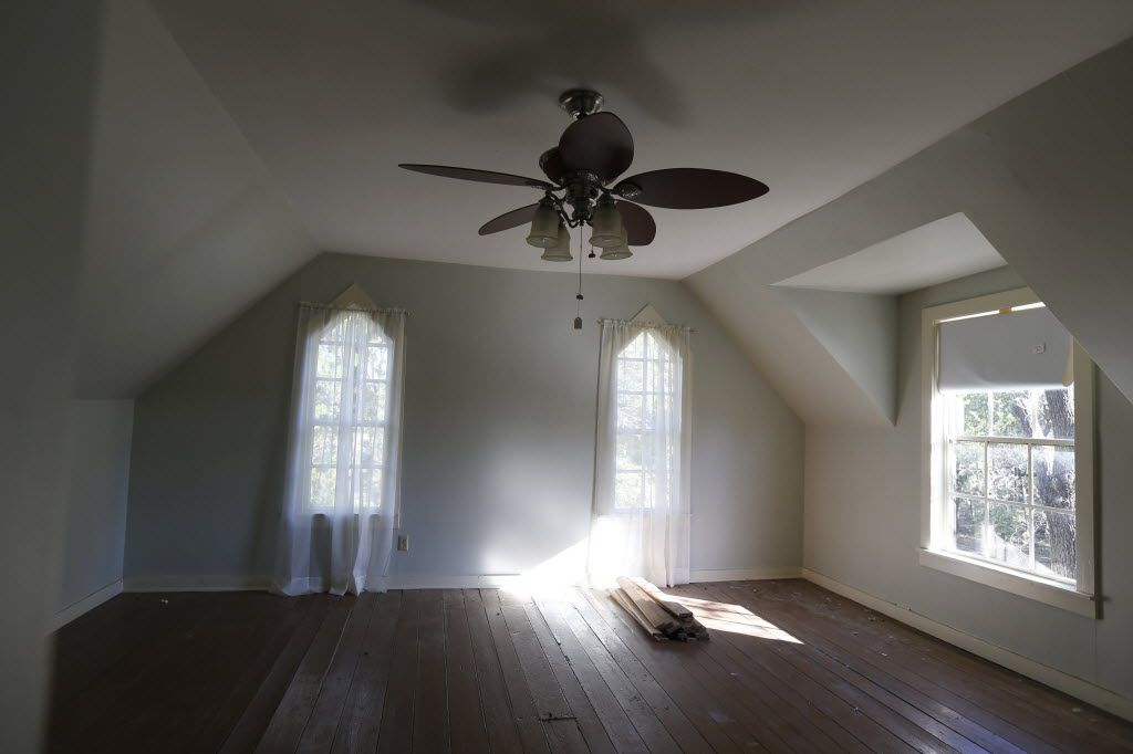 An upstairs bedroom at Collinwood House, an historic house that the city of Plano is willing to give away to anyone willing to move it to a new location, in Plano  November 6, 2014. (Nathan Hunsinger/The Dallas Morning News)
