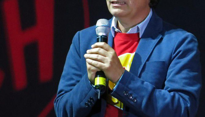 El productor Roberto Gómez Fernández, hijo del fallecido comediante mexicano Roberto Gómez Bolaños (AP/BERENICE BAUTISTA)