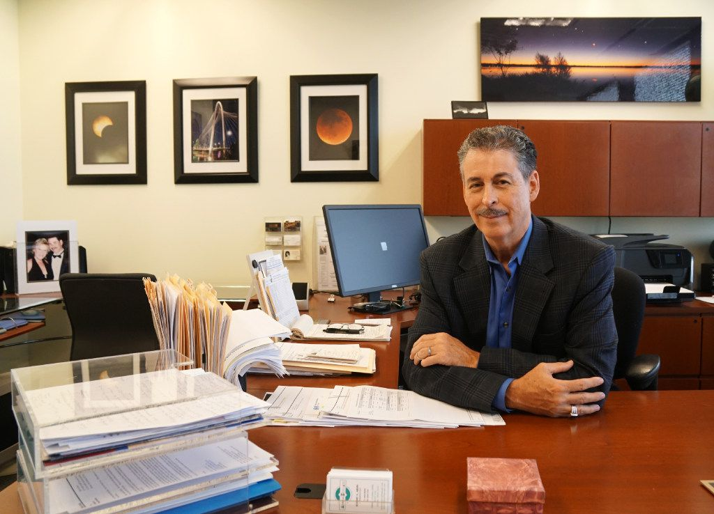 Health insurance broker Robert Arvin in his Dallas, Texas office on Thursday, October 6, 2016. With all the changes in the insurance industry, he's having to make updates to his business. (Lawrence Jenkins/Special Contributor)