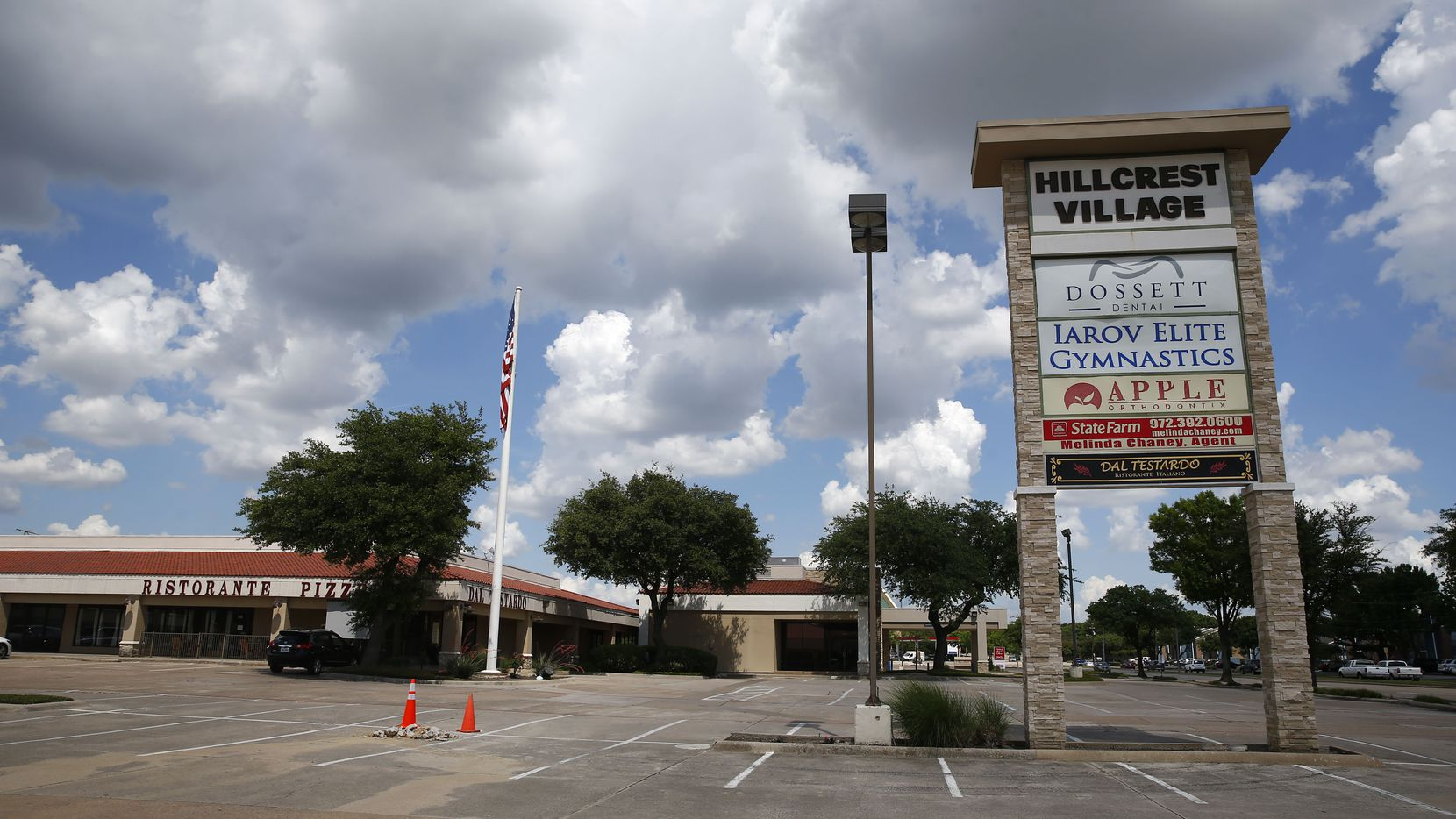 The Hillcrest Village shopping center is at Arapaho and Hillcrest roads in Far North Dallas.